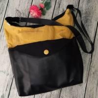 Shopper XXL Handtasche Umhängetasche Crossboddybag aus Kunstleder und Oilskin  Bild 1