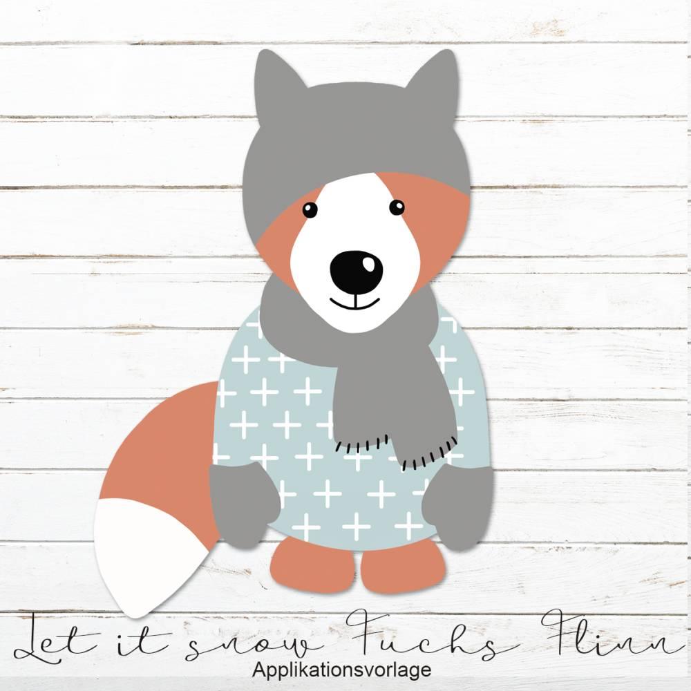 LET IT SNOW FUCHS FLINN Applikationsvorlage Bild 1