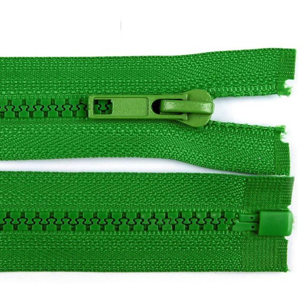 65cm Reißverschluss grün - teilbar für Jacken Bild 1