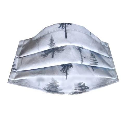 Behelfs-Mund-Nase-Maske *Nebelwald* Gr. M Behelfsmaske, Mundschutz Baumwollstoff mit Nasenbügel waschbar 60°