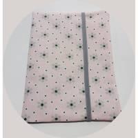 Mutterpasshülle Blümchen rosa-grau und großem Fach für Ultraschallbilder Bild 1