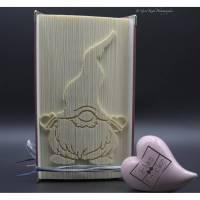 Gefaltetes Buch/ Wichtel / Gnom / Weihnachtswichtel  Bild 1
