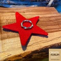 """Ring """"Girlande"""" aus 935 Silber. In sich gedrehter Fingerring in  Weite 52  Bild 3"""
