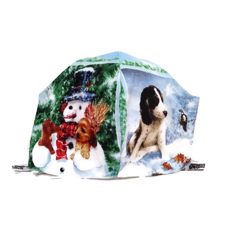 Winter Advents Weihnachts Mund-Nasen-Maske (M074) Bild 1