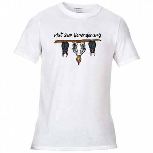 T-Shirt mit Mut zur Veränderung Aufdruck