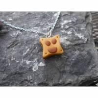 Freundliches kleine Toastscheibe    Halskette  kawaii sweet  Bild 1