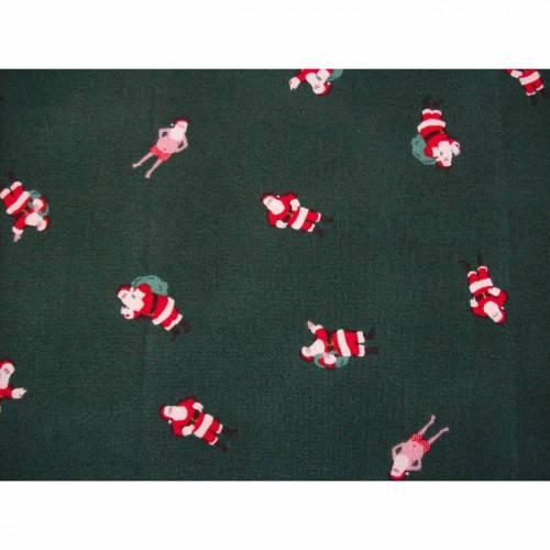 Mundschutz Erwachsene Weihnachten Weihnachtsmann grün rot mit weichem, schmalen Gummiband  ohne Nasenbügel