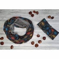 Set Schal & Stirnband Erwachsene Pusteblumen bunt grau Bild 1