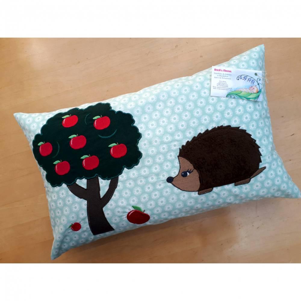 Kissenhülle Apfelbaum mit Igel 30 x 50 cm mit Hotelverschluss Bild 1