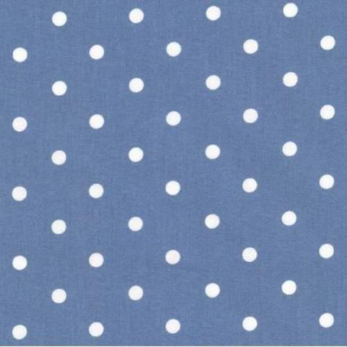 Westfalenstoff *Ab 10 cm bestellbar* Capri Blau gepunktet Punkte Baumwolle Webware Meterware Öko-Tex Standard 150 cm