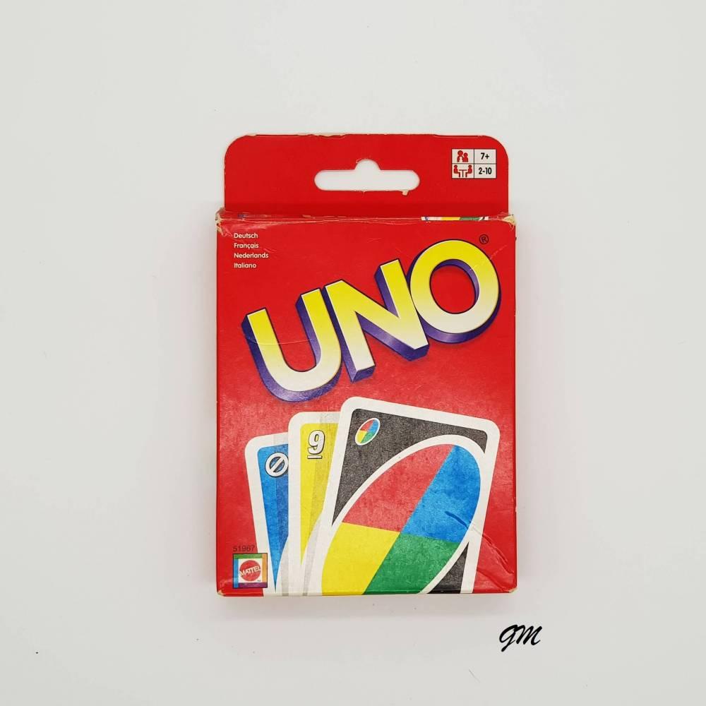 vintage, Kartenspiel, Spiele, UNO von Mattel ab 7+ für 2-10 Spieler, gebraucht,  Bild 1
