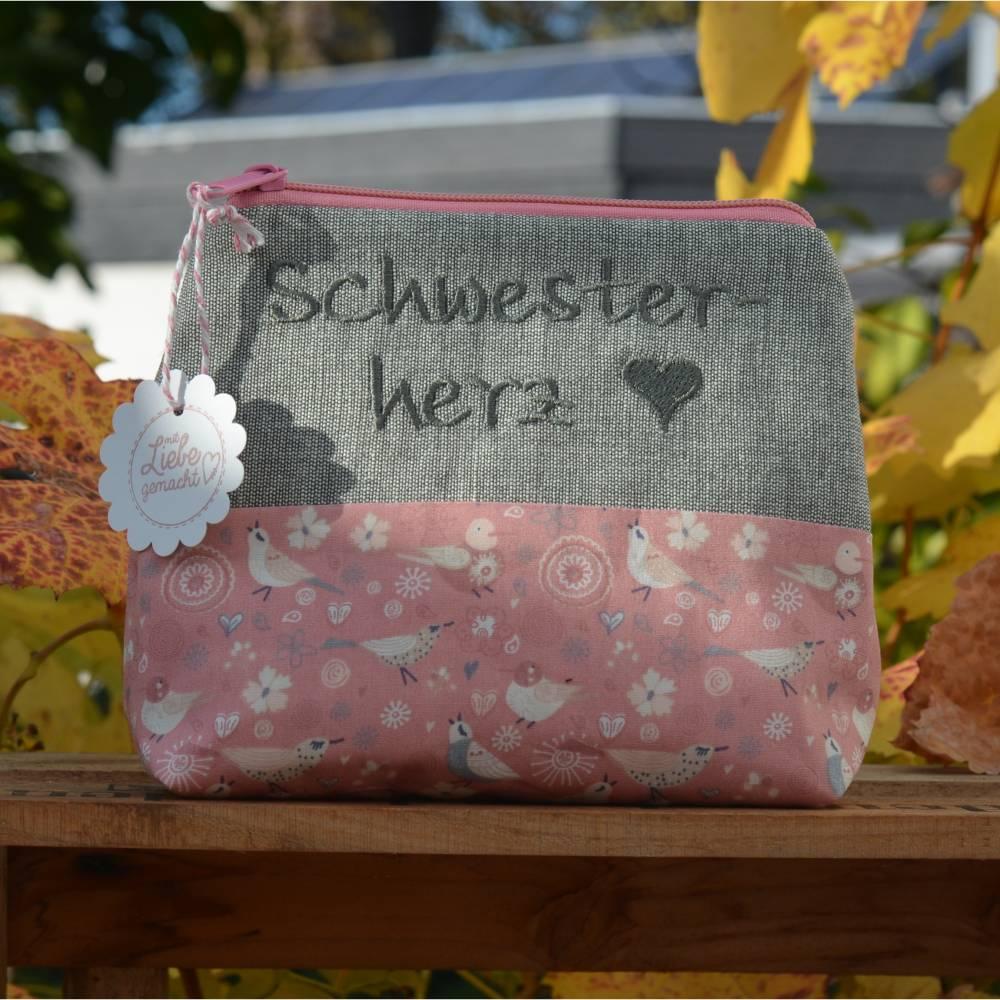 ♥ Schwesterherz  Schminktäschchen ♥ Bild 1