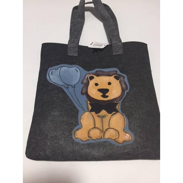 Filztasche mit Applikation Löwe Leo für Kinder Bild 1