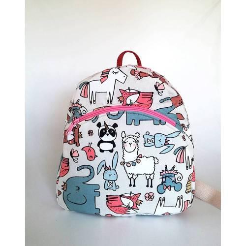 Kinder-Rucksack//Kindergartentasche Tiere//Handmade