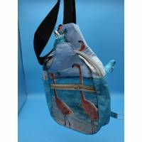 Upcycling Crossbag Flamingo Bild 1