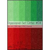 Digipapier-Set Glitter #04 Bild 1