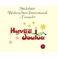 """Stickdatei  """"Weihnachten International - FINNISCH"""" Bild 1"""