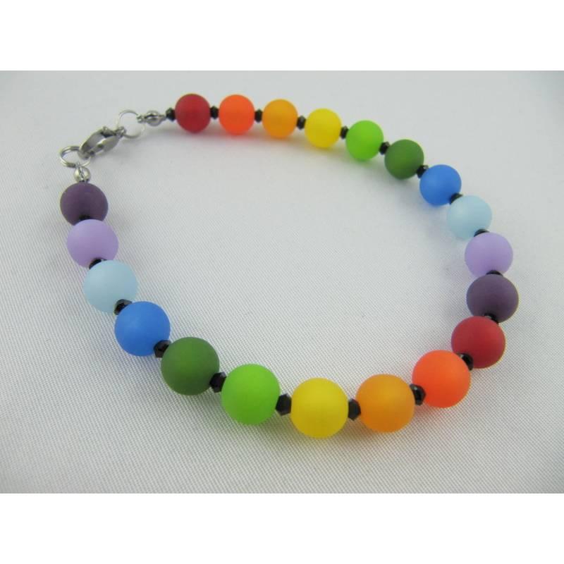 Armband Regenbogen Bunt Polaris Perlen (566) Bild 1