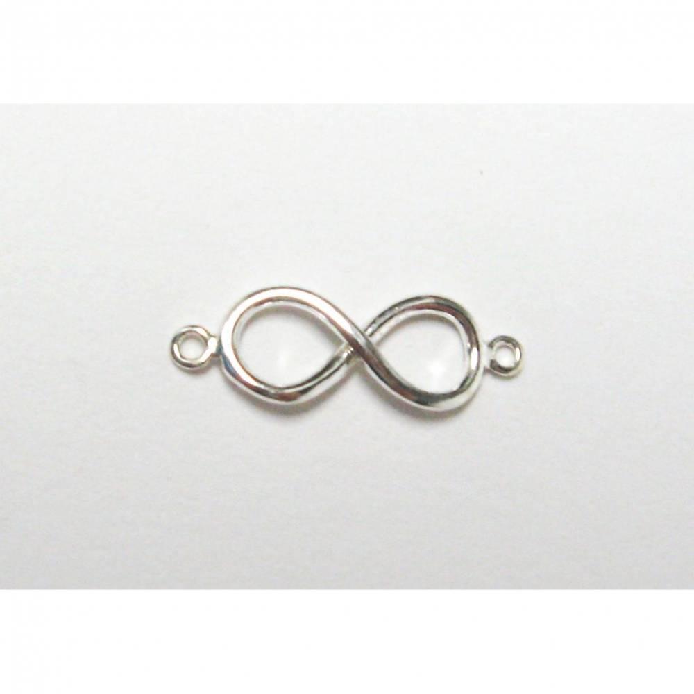 Infinity Schmuckzwischenteil, Unendlichkeit Symbol, Kette, Armband Verbinder aus Silber 925 Bild 1