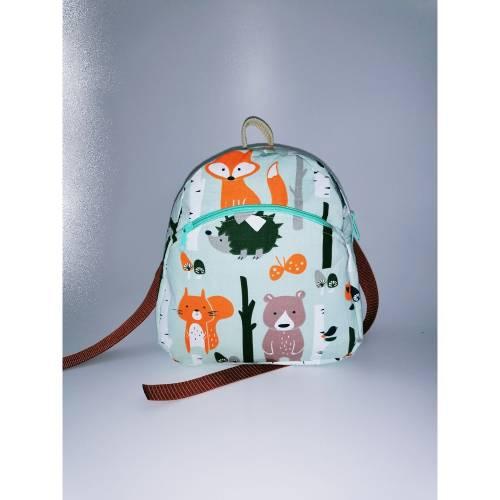 Kinder-Rucksack//Kindergartentasche Waldtiere//Handmade