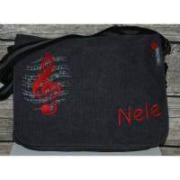 Notentasche/Schultertasche personalisiert bestickt  Musiktasche Bild 1