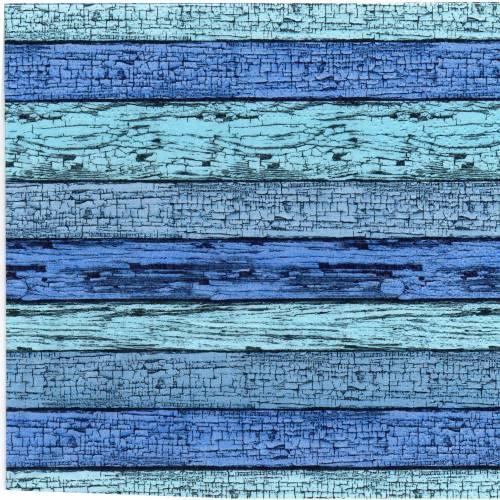 5 Servietten / Motivservietten    Holz Optik   blau - grün  S 309