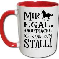Pferde Tasse mit Stall Spruch, Mädchen Reiten Reiterhof Geschenk Bild 1