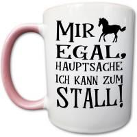 Pferde Tasse mit Stall Spruch, Mädchen Reiten Reiterhof Geschenk Bild 2
