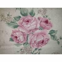 Shoppertasche aus Baumwolle mit Rosen, Schultertasche, Einkaufsbeutel, Einkaufstasche, Shopper Bild 1