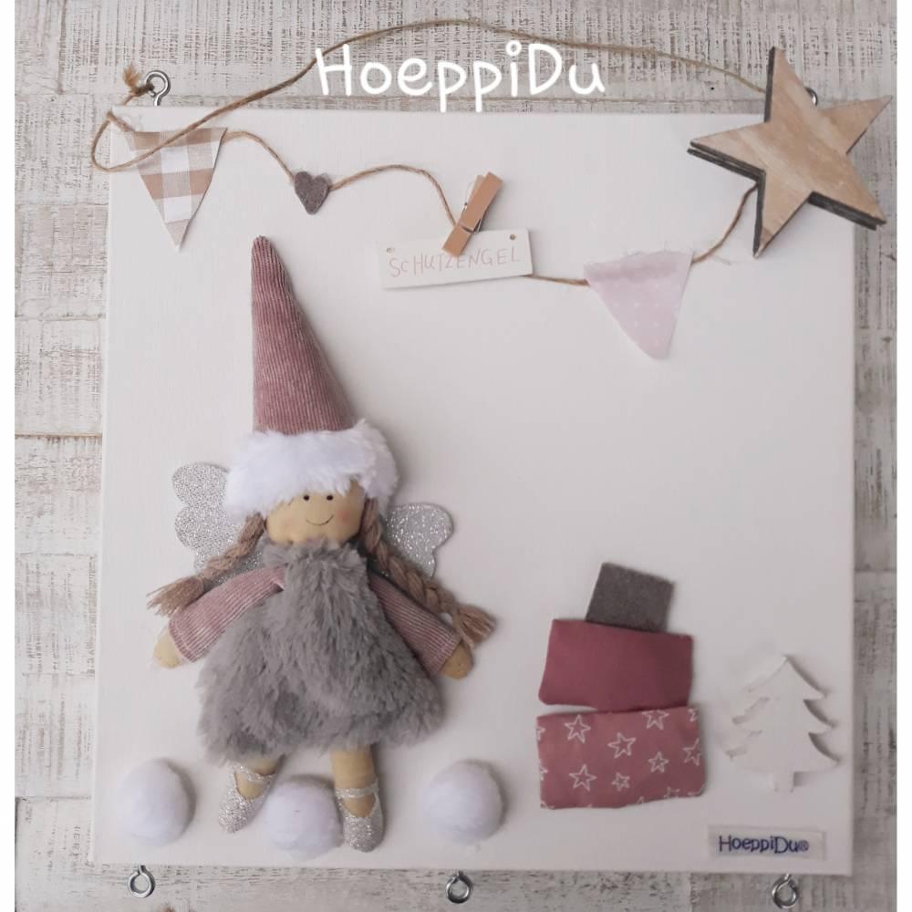 HoeppiDu, Adventskalender, selbst befüllbar, Unikat, Weihnachten, Engel Fee Sternchen weiß Bild 1