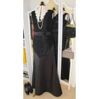 Abendkleid schwarze Spitze / Seide Bild 1