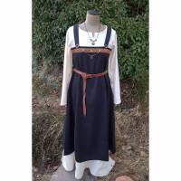 Wikinger Kleid für Frauen, Schürzenkleid schwarz dunkelblau kariert, Mittelalter Kleid, LARP, Cosplay, Toraxacum Bild 1