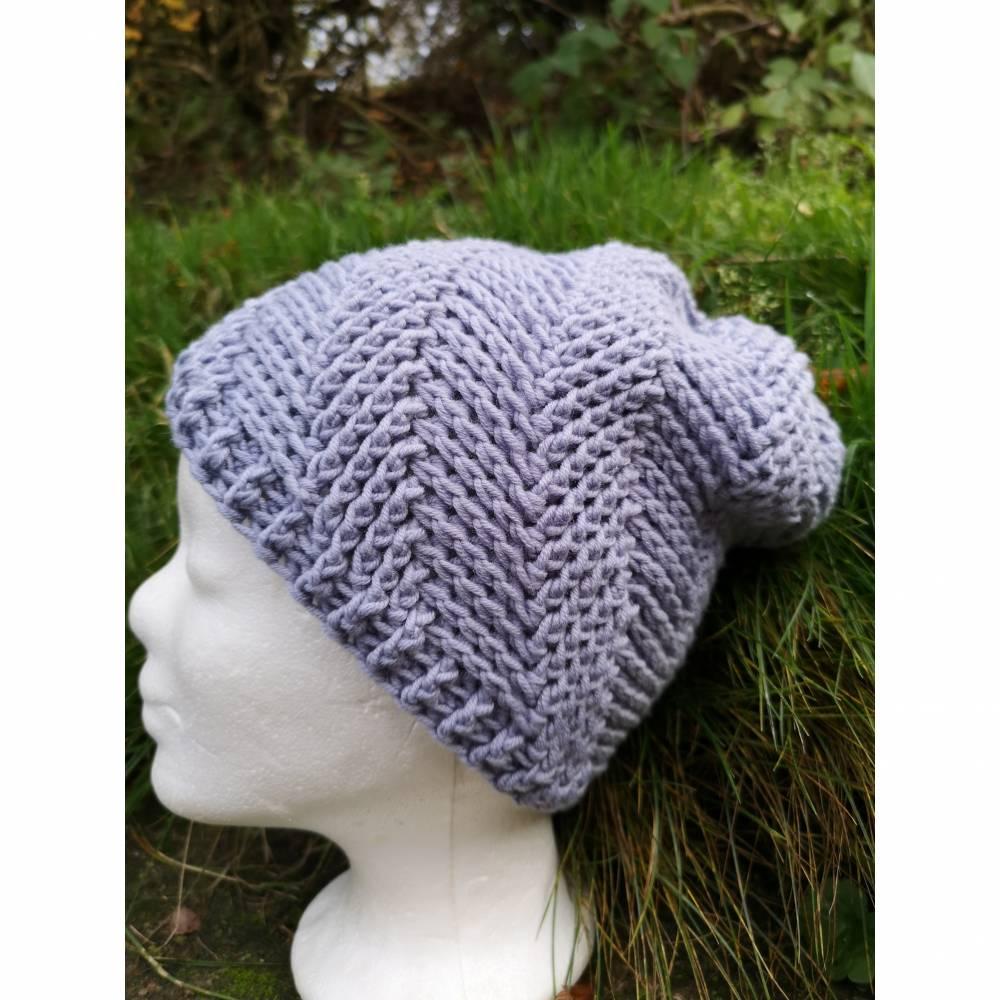 gehäkelte Mütze,Kopfbedeckungen, Wintermütze, Wollmütze, Unikat Bild 1