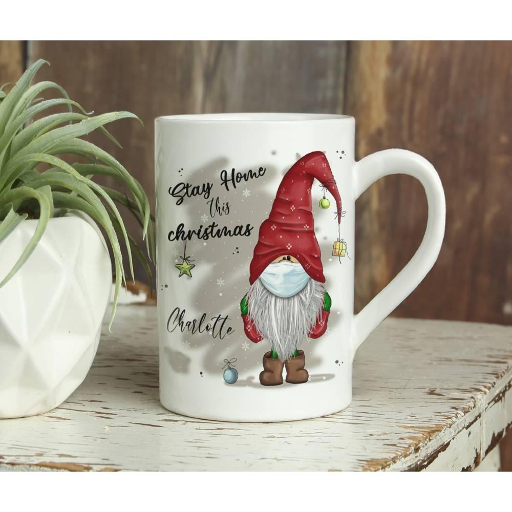 STAY HOME WICHTEL - Tasse - weihnachtlich Bild 1
