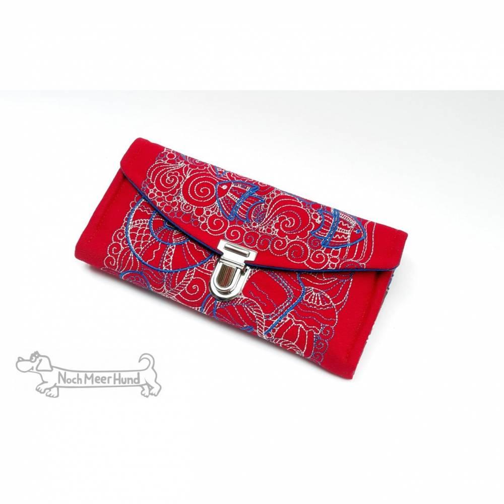 Maritimes Portemonnaie mit wunderschöner Stickerei und passenden Stoffen. Urlaubsfeeling pur! Bild 1