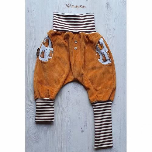 Mitwachsende Cord Knickerbocker aus Bio Baumwolle mit Fuchstaschen