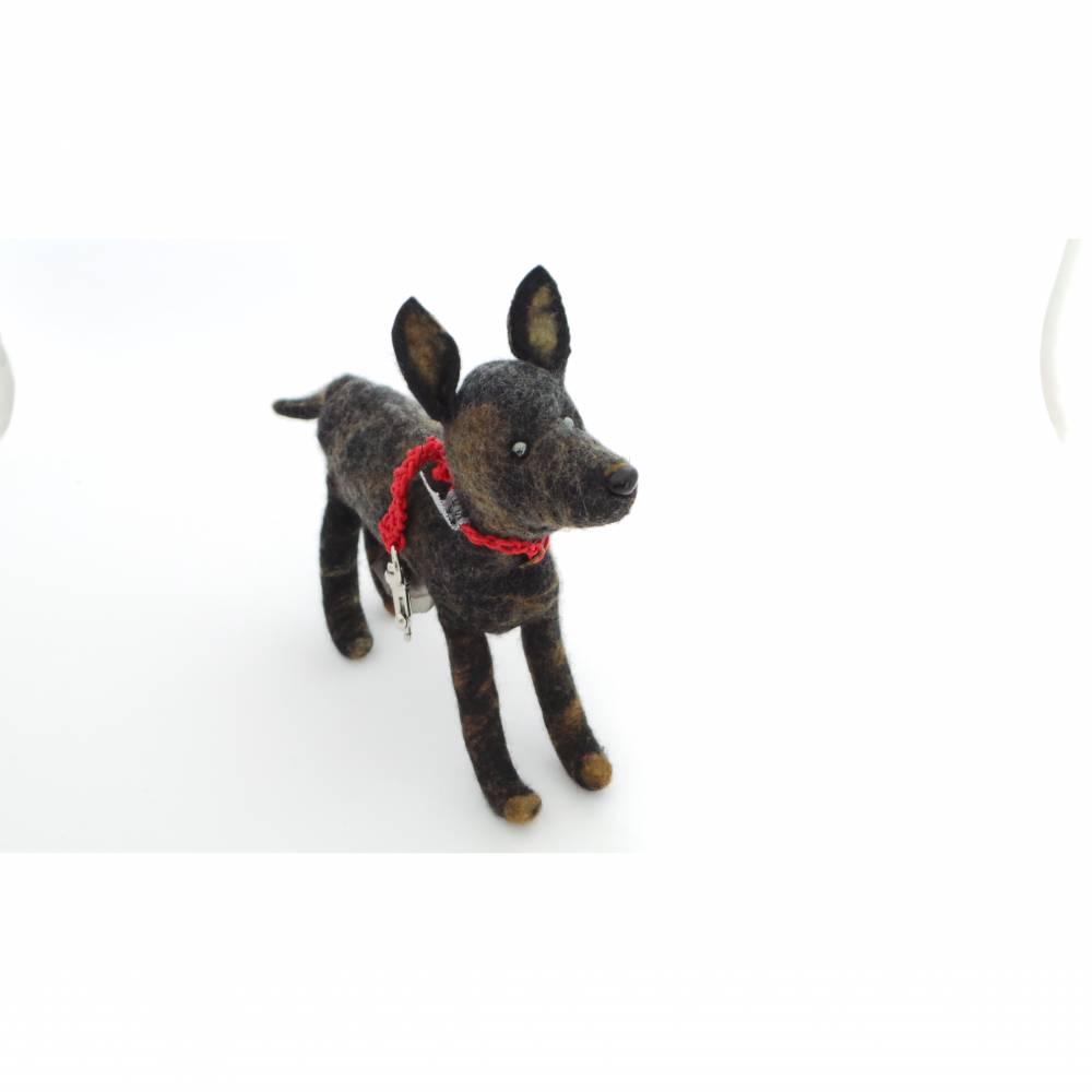 Kotbeutelspender braun Filz, Gassitäschchen, Etui für Kotbeutel, Hunde Accessoires, Tasche für Kotbeutel Hundebesitzer Bild 1