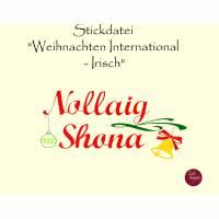 """Stickdatei  """"Weihnachten International - IRISCH"""" Bild 1"""