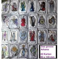 Besticktes Tarot-Deck (Großes Arkana) - 22 Tarot-Karten - Die Trumpfkarten Bild 1
