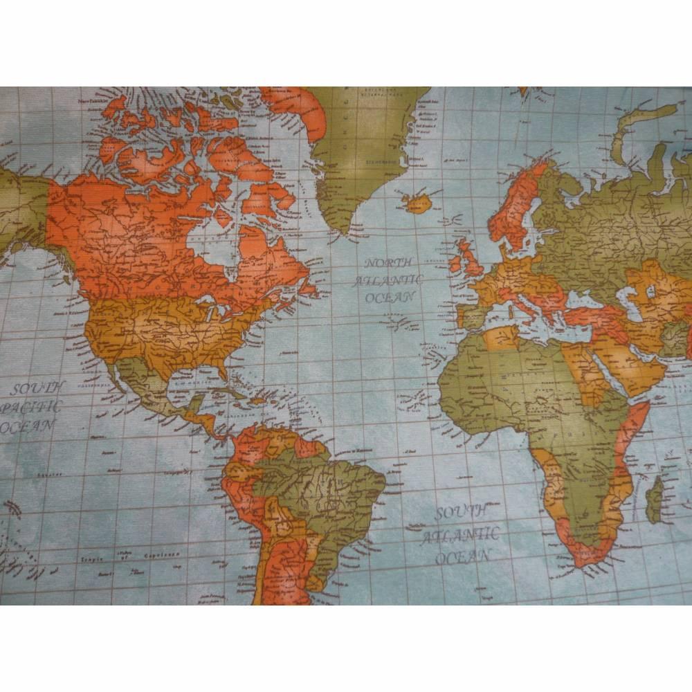 10,70 EUR/m Dekostoff Weltkarte Landkarte / World map / Atlas Bild 1