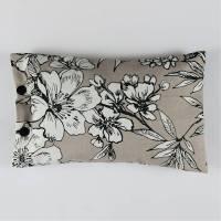 Zirbenkissen grau gemustert Kissen mit Zierbenflocken gefüllt Bild 1