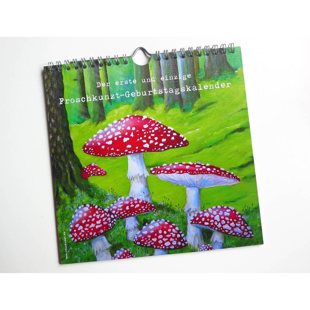 Geburtstagskalender, immerwährender Kalender, Wandkalender, Frösche, Kunst Kalender, Tierkalender, Frosch Kalender, Geschenk Bild 1