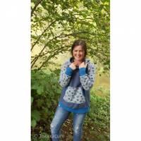 Lieblings Hoodie für Frauen, warmer Kapuzenpullover, Sweatshirt mit niedlichen Schnecken, Sweater für sie, Raglan Pullov Bild 1