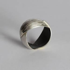 """Fingerring """"Focus 3"""" aus 935 Silber aus 935 Silber. 3 Einzelteilen montiert/verlötet"""