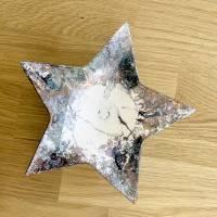 Teelichthalter Stern Porzellan handbemalt Bild 1