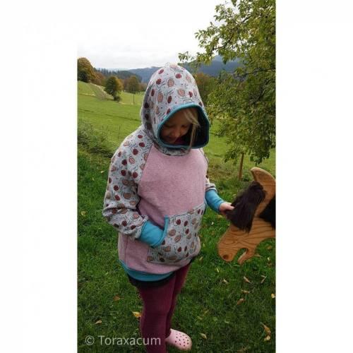 Hoodie für kräftige Mädchen, große Größe rosa Sweatshirt, plus size kids Pullover Wintersweat, Sweater für Mollige