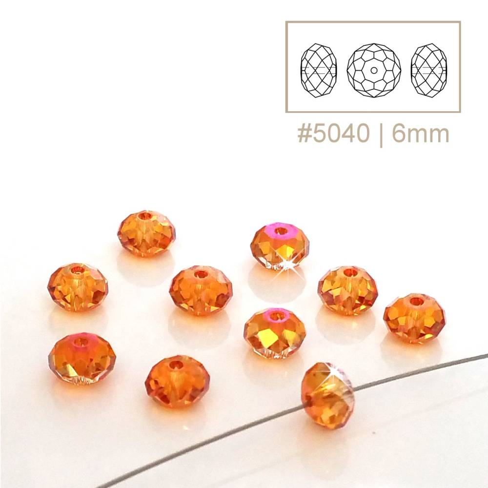 10 pcs | 5040 | SWAROVSKI© ELEMENTS | Briolette Bead | 6mm | crystal astral pink | 001 API Bild 1
