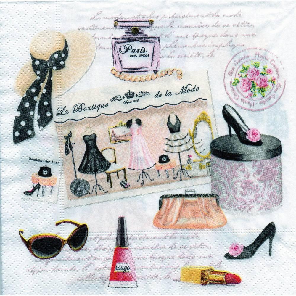 Frauen / Damen  / Kosmetik / Kleidung / Schuhe  / Hut  4 Servietten / Motivservietten  Sonstige Motive  S 26 Bild 1
