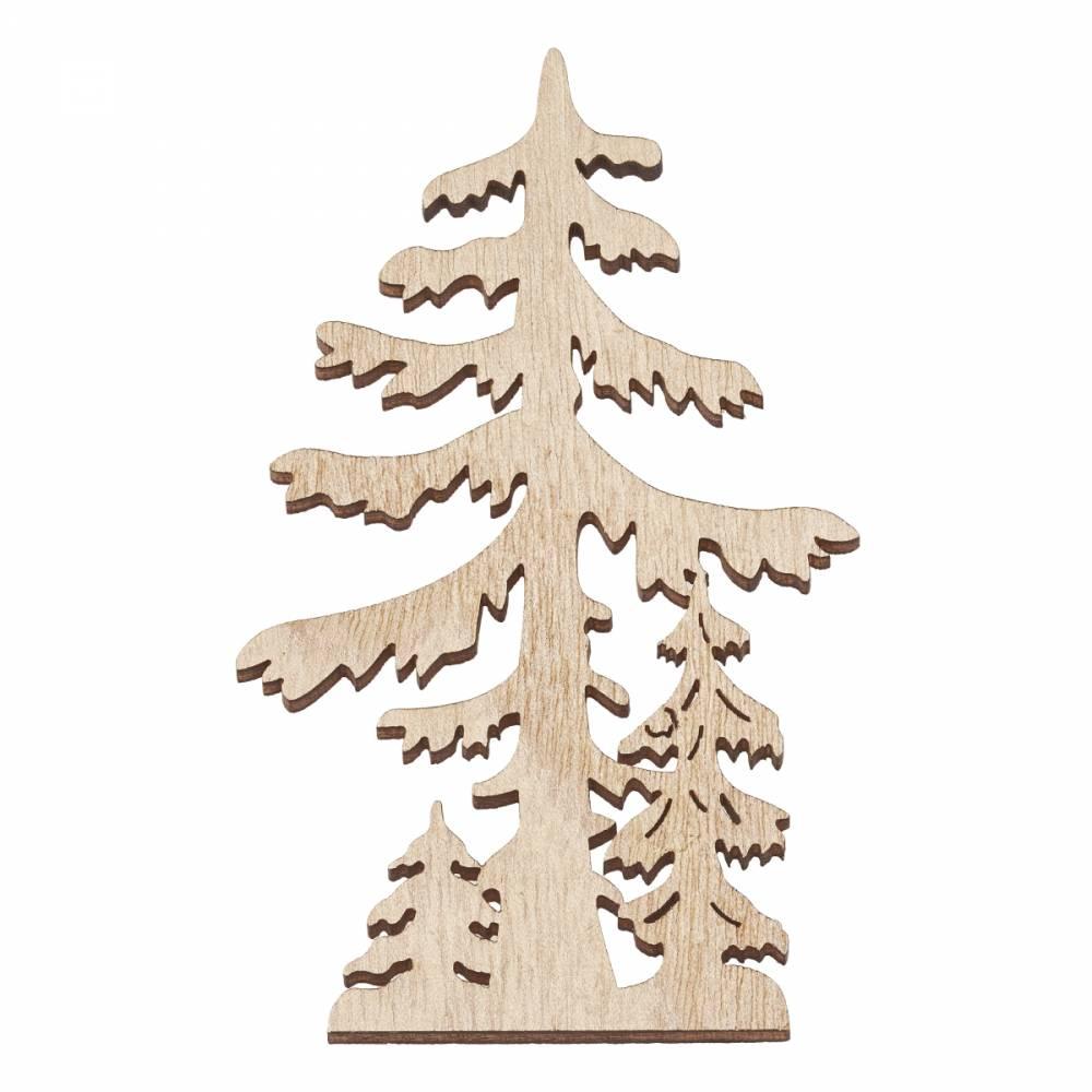 Holz-Baum-Silhouette  Bild 1