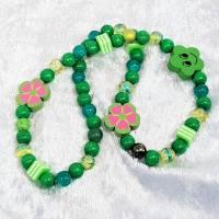 """Kinderhalskette """"Chloe"""", Kinderkette,grün, elastisch Bild 1"""